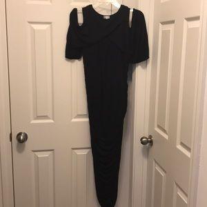 Kiyonna size 1 cold shoulder dress in black